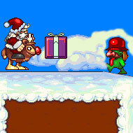 Santa and the Ghost of Christmas Present