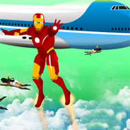 Iron Man Saving Air Force One